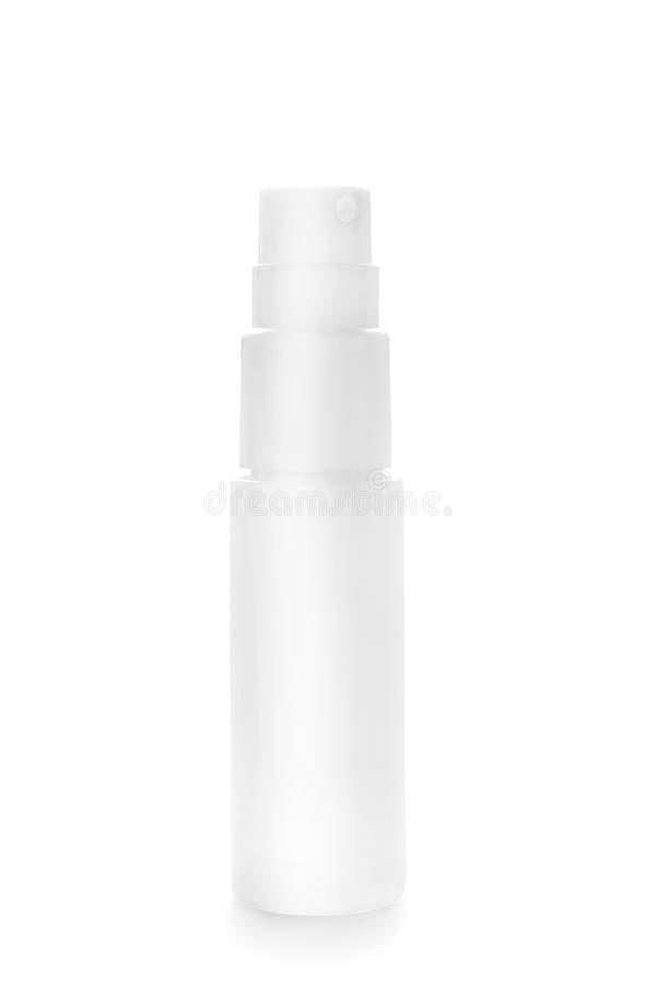 在白色隔绝的浪花塑料瓶 库存图片
