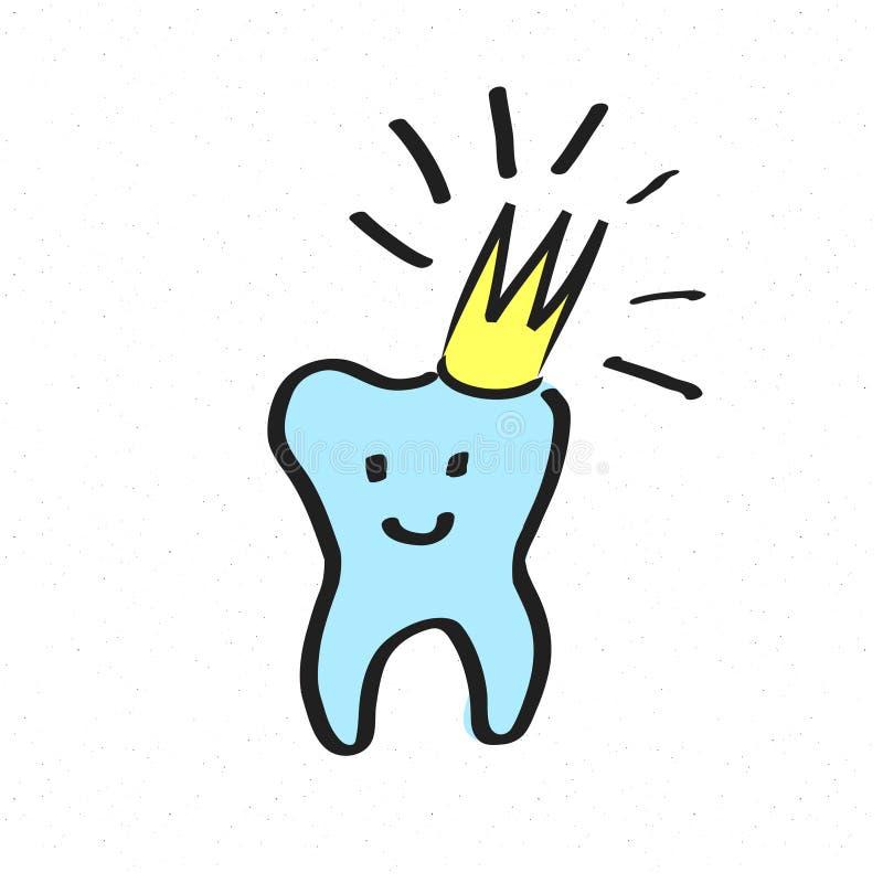 在白色隔绝的牙象 手图画剪影传染媒介例证 向量例证