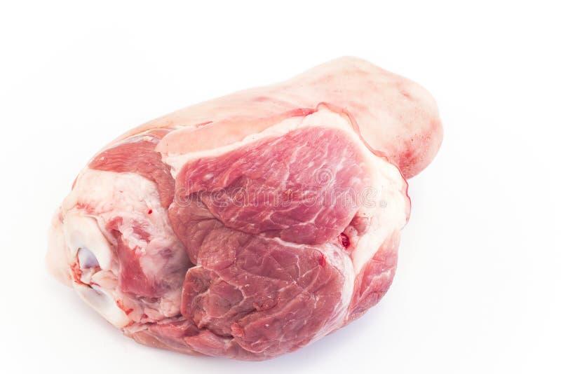 在白色隔绝的猪肉指关节 免版税图库摄影