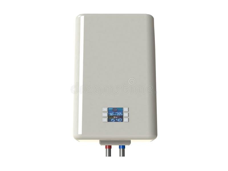 在白色隔绝的电水加热器 库存例证