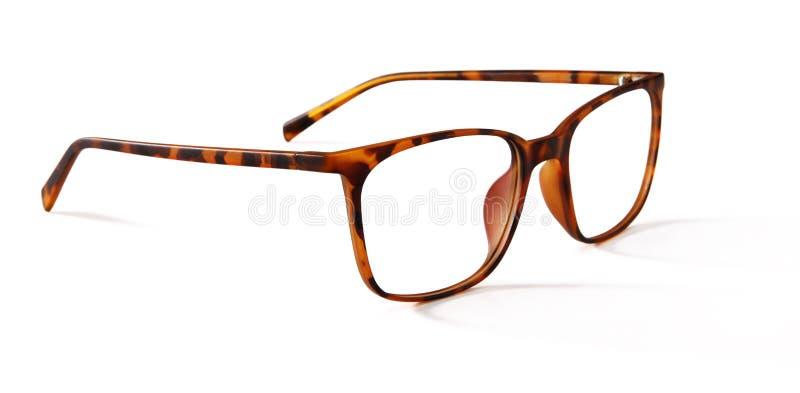 在白色隔绝的眼镜 免版税库存照片