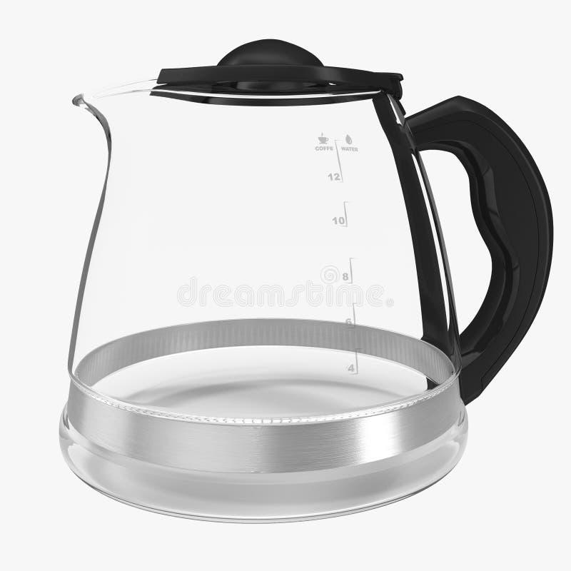 在白色隔绝的空的咖啡罐 3d例证 库存例证
