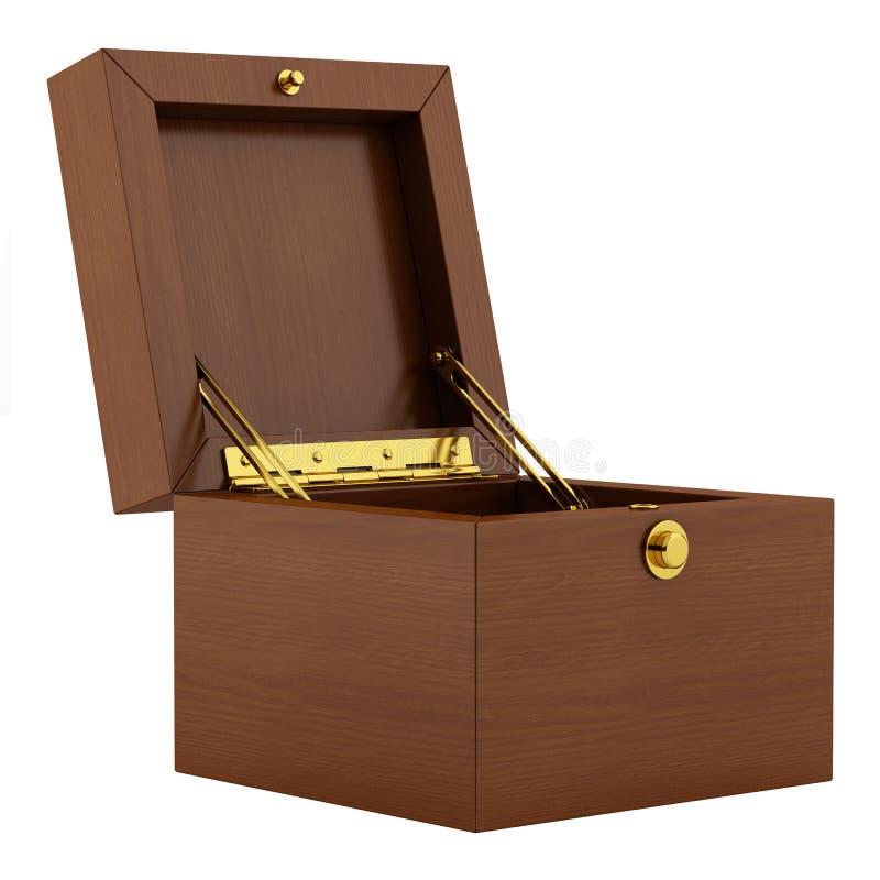 在白色隔绝的空的木箱 向量例证