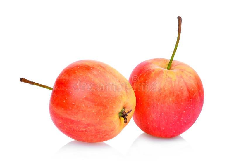 在白色隔绝的红矮星苹果 库存图片
