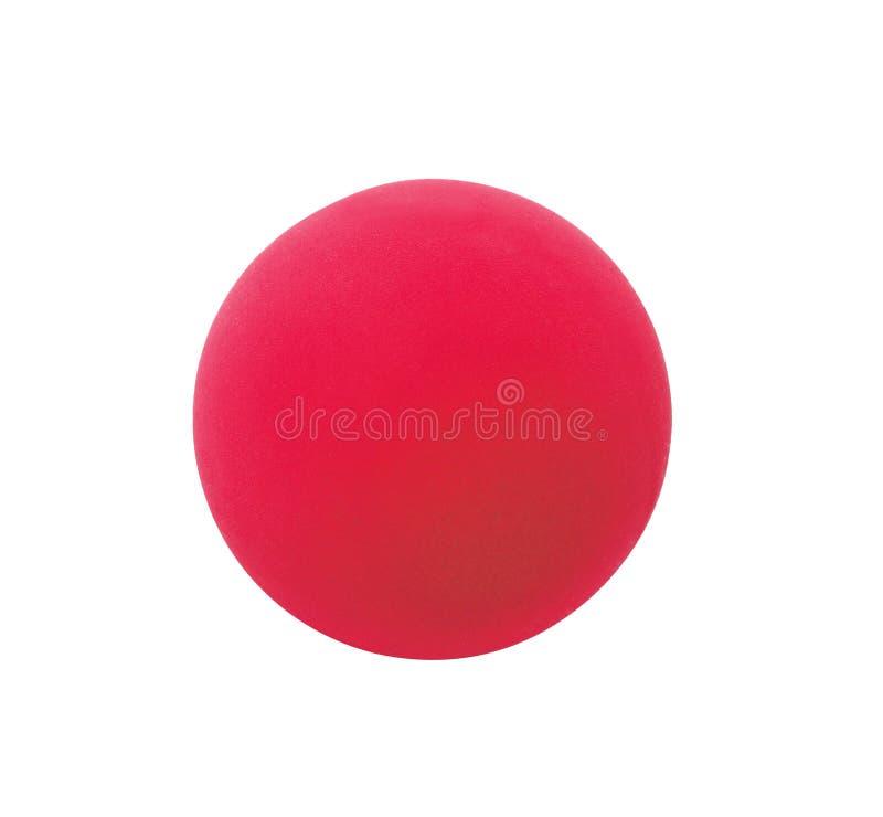在白色隔绝的红色体育球 库存照片