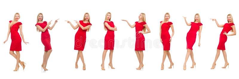 Download 在白色隔绝的红色礼服的妇女 库存图片. 图片 包括有 综合, 方式, 逗人喜爱, 拼贴画, 褂子, 设计 - 72357989