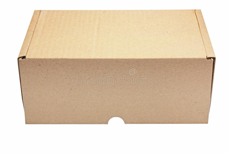 在白色隔绝的纸箱箱子 免版税库存图片