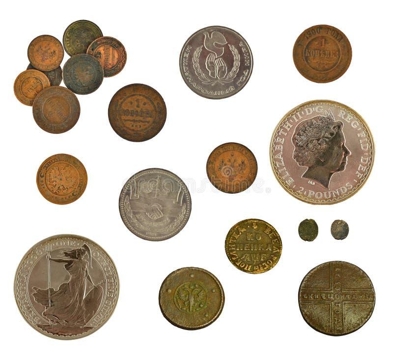 汇集硬币 免版税库存照片