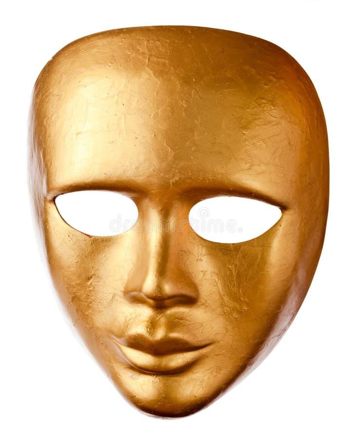 在白色隔绝的老威尼斯式面具 免版税库存照片