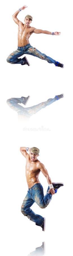 Download 在白色隔绝的舞蹈家跳舞舞蹈 库存图片. 图片 包括有 英俊, 执行, 艺术, 自由式, 移动, 裸体, 舞蹈 - 72365153