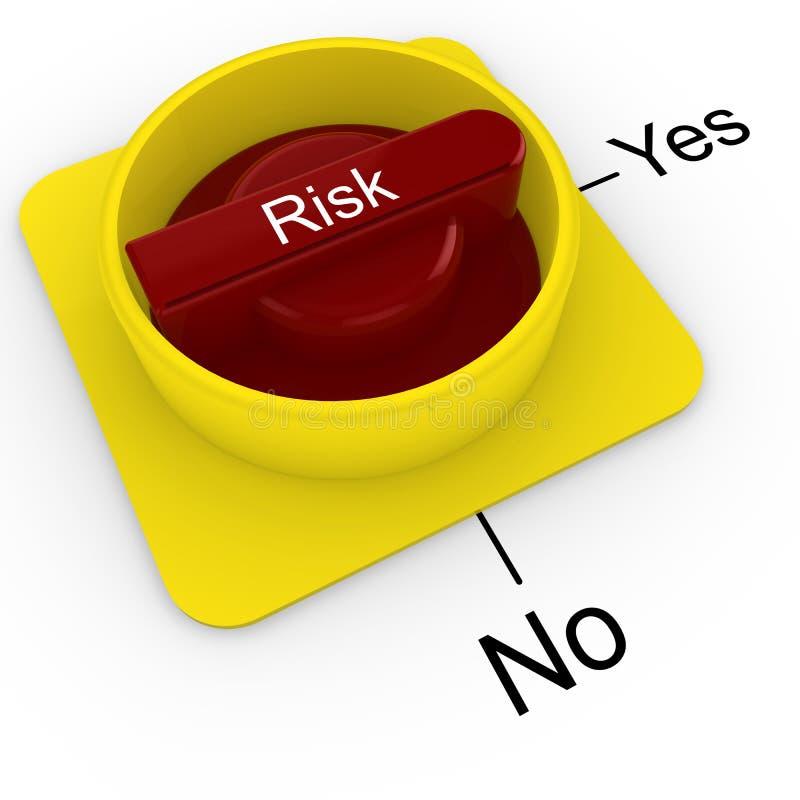 在白色隔绝的风险评估轮循交换机 皇族释放例证