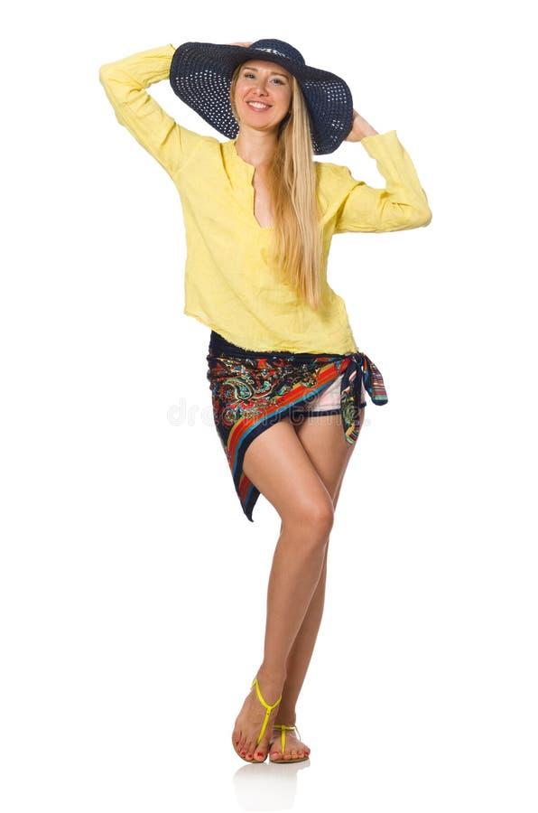Download 在白色隔绝的高白种人式样佩带的帽子 库存图片. 图片 包括有 快活, 女性, 特写镜头, 愉快, beautifuler - 72363135