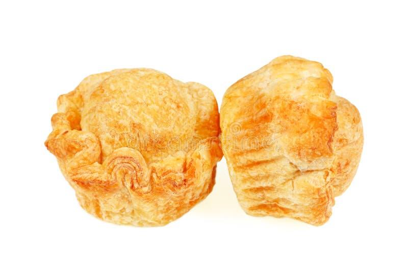 在白色隔绝的鸡饼 免版税库存图片