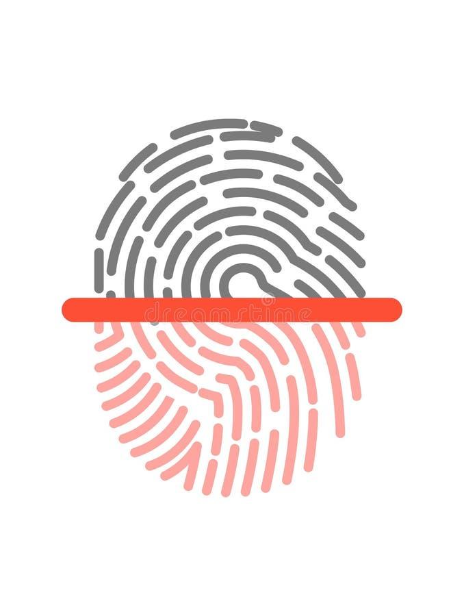 在白色隔绝的黑和桃红色半指纹形状象 皇族释放例证