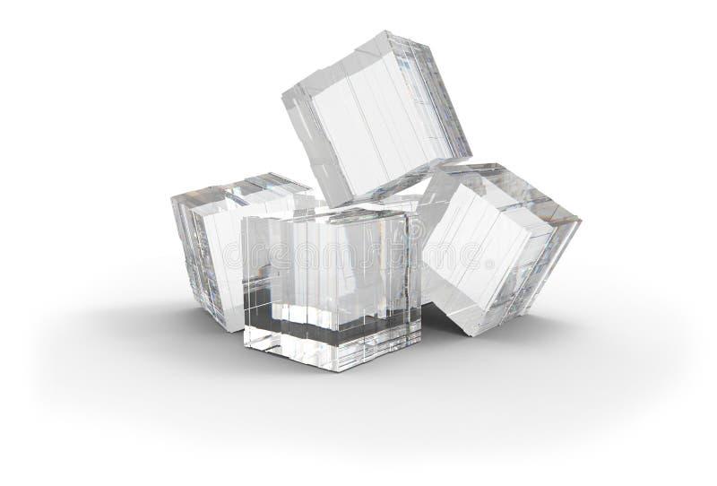 水晶立方体 库存例证