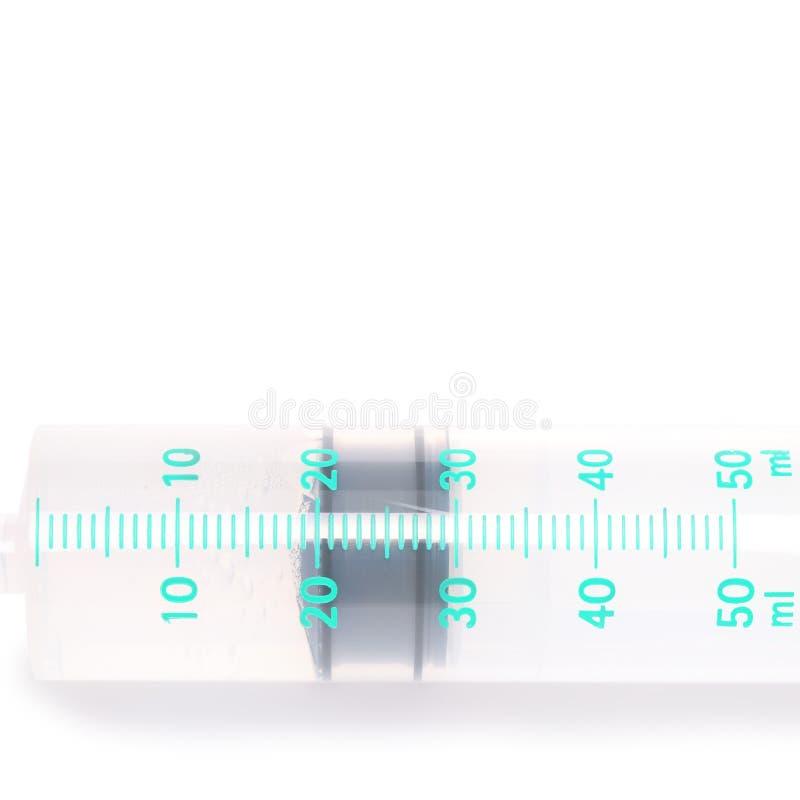 在白色隔绝的医疗注射器 库存照片