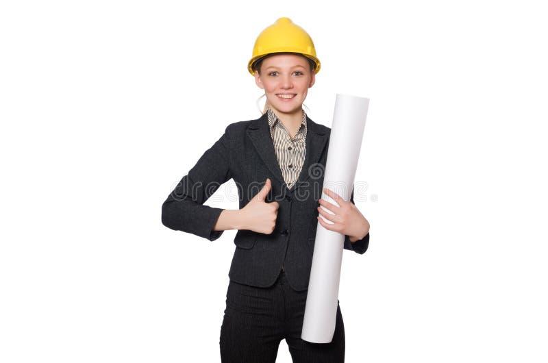 Download 在白色隔绝的年轻建筑师 库存照片. 图片 包括有 办公室, 工作, 承包商, 盔甲, 拱道, 行业, 建筑师 - 72357962