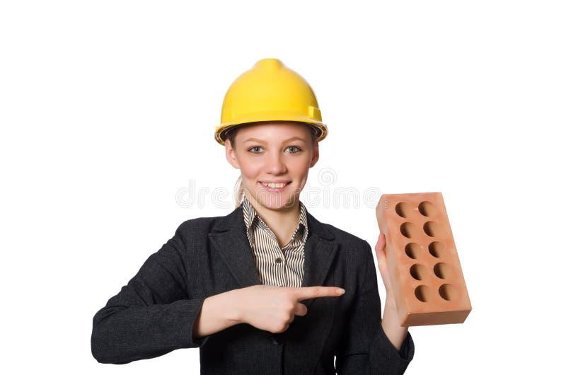 Download 在白色隔绝的年轻建筑师 库存图片. 图片 包括有 布琼布拉, 事业, 工作服, 工程师, 工具箱, 工头 - 72357991