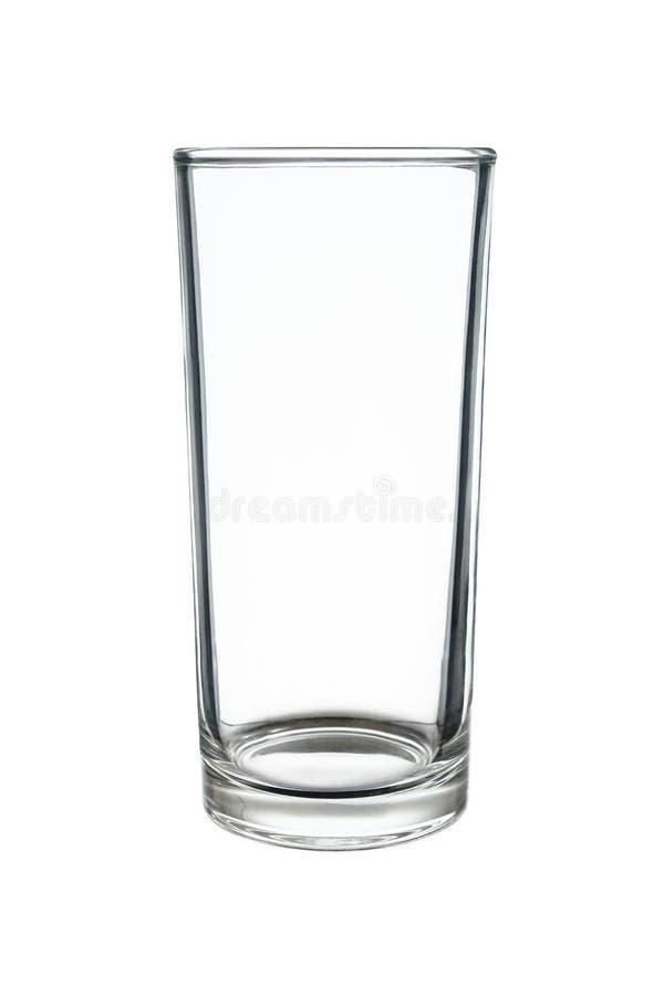 在白色隔绝的highball或用大杯喝的饮料玻璃 库存图片