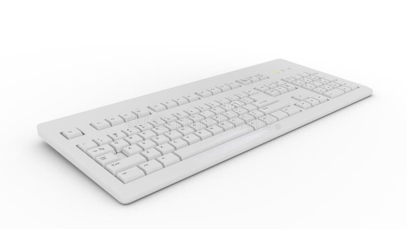 在白色颜色的键盘 库存图片