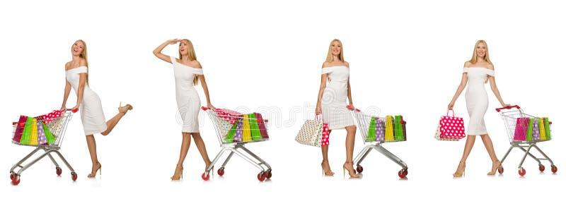 Download 在白色购物概念的妇女隔绝的 库存照片. 图片 包括有 市场, 综合, 滑稽, 采购, 巴哈马群岛的, 诱饵 - 72359968