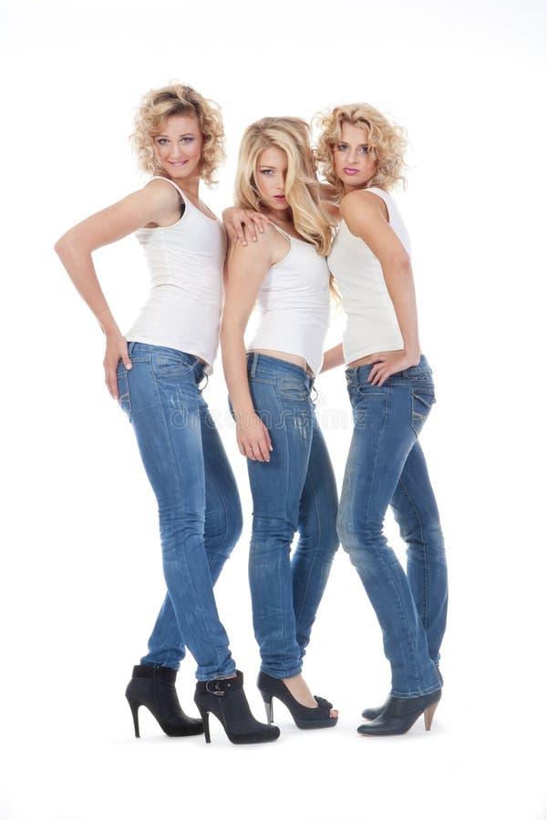 三个少妇 库存图片