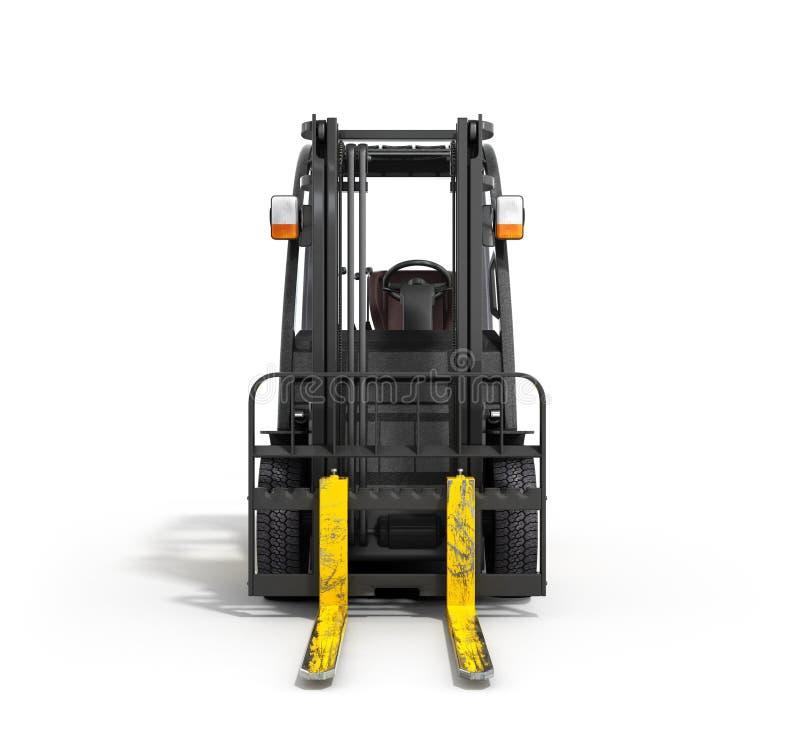 Download 在白色3D例证的铲车装载者 库存例证. 插画 包括有 堆货机, 纸盒, 程序包, 机架, 配电器, 商品 - 72359779