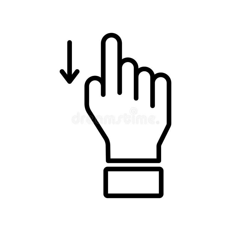 在白色backgro在象传染媒介标志下的重击和标志隔绝的 库存例证