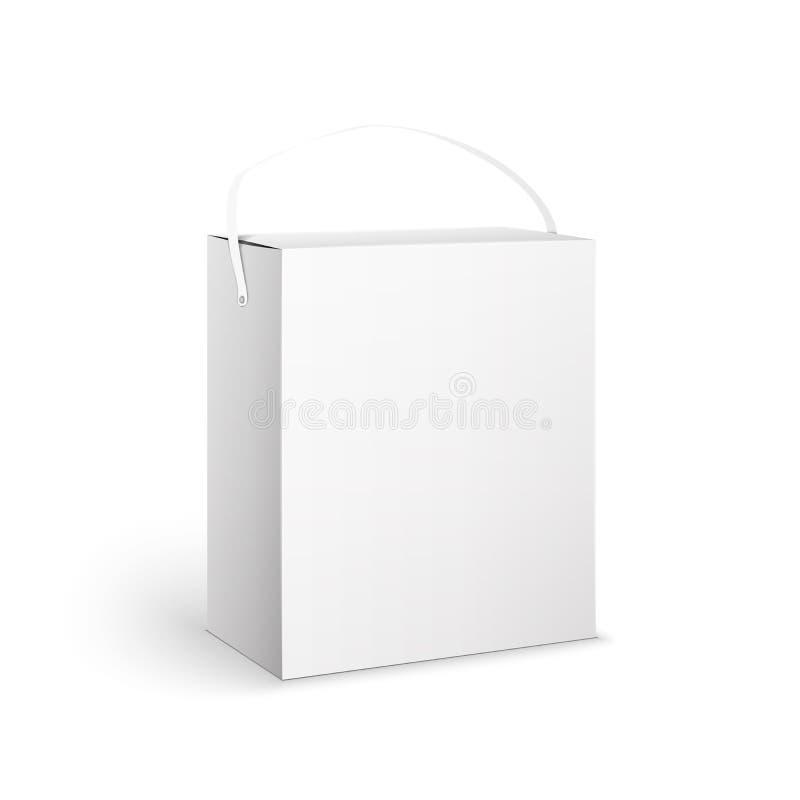 在白色Backgro的白色产品包裹箱子例证 库存例证