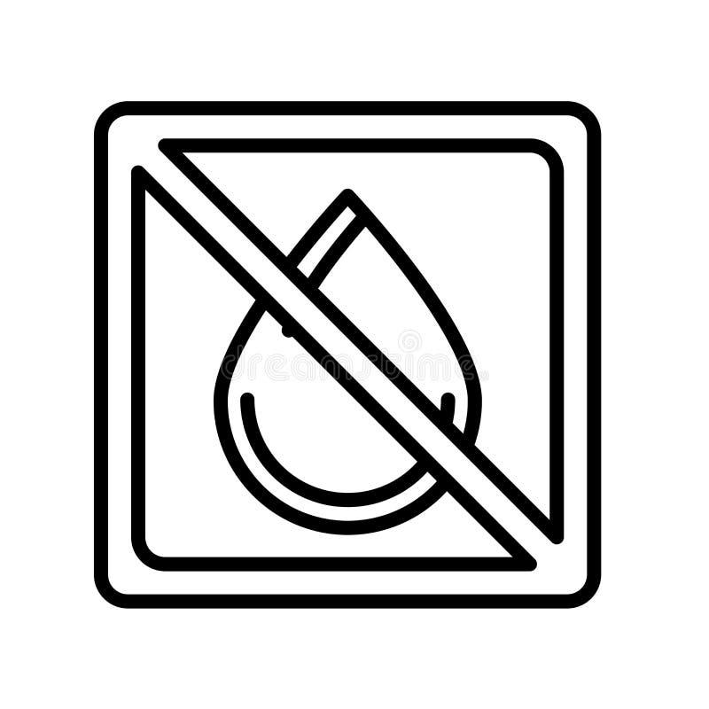在白色backgroun和标志隔绝的没有水象传染媒介标志 向量例证