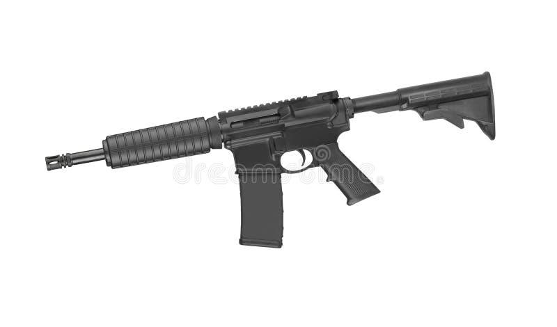 在白色M4隔绝的特种部队步枪 免版税图库摄影
