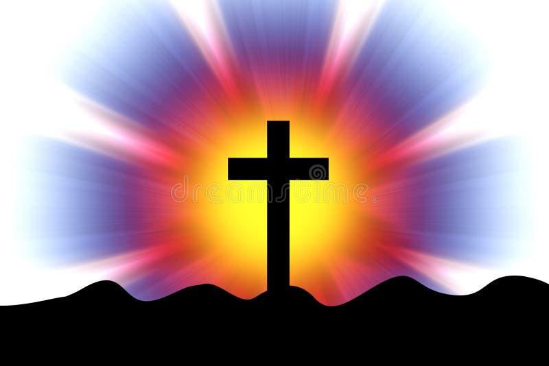 在的十字架光芒 皇族释放例证