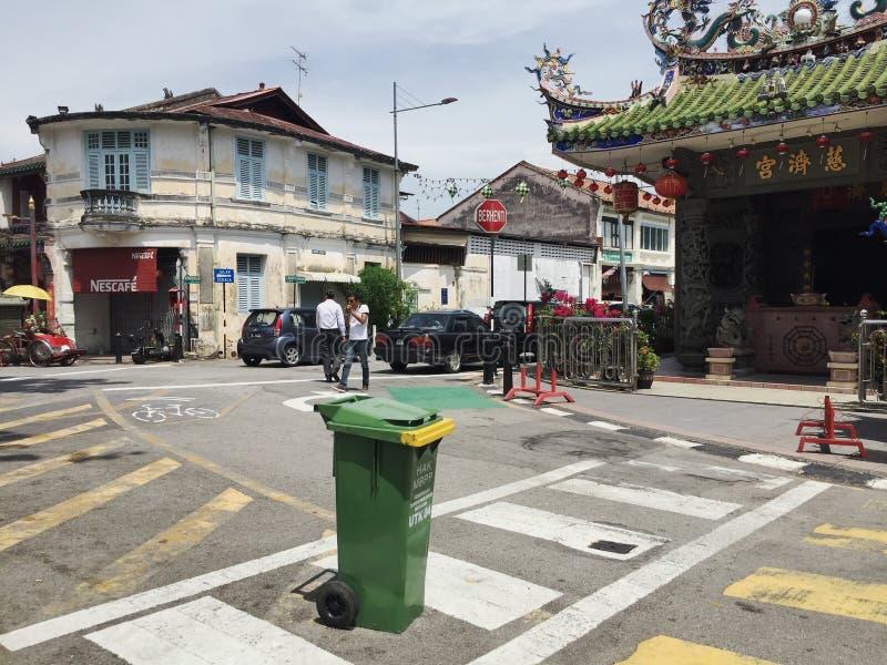 在的绿色垃圾 图库摄影