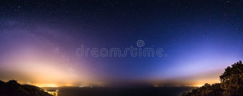 在的里雅斯特海湾的星  库存图片