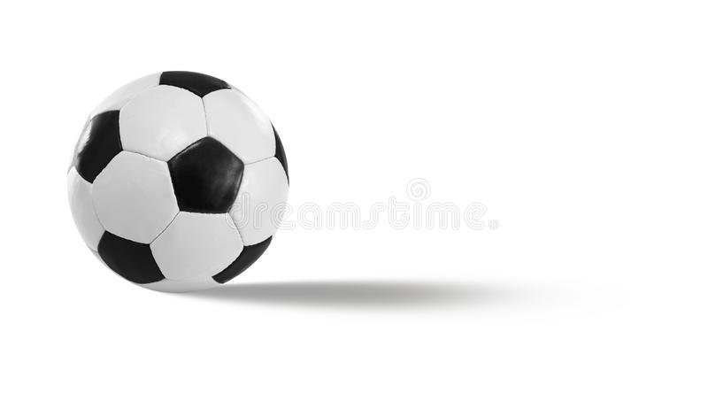在皮革的黑白色橄榄球 库存照片