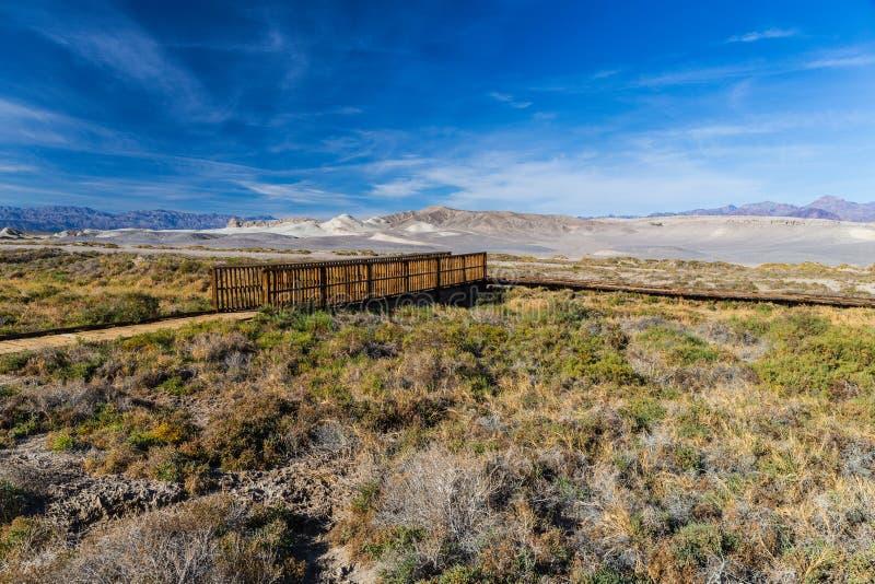 在盐小河足迹的桥梁 免版税库存图片