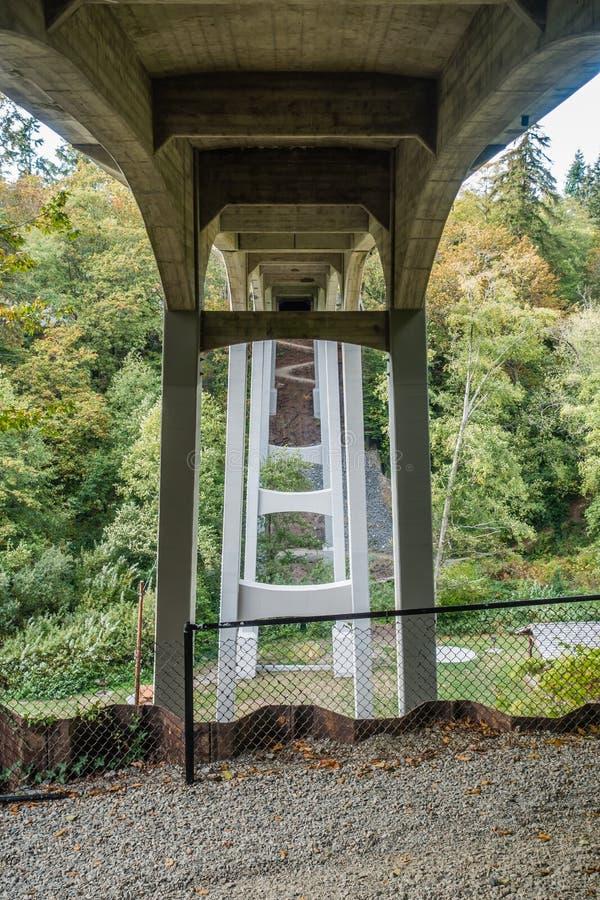 在盐水公园的桥梁 图库摄影
