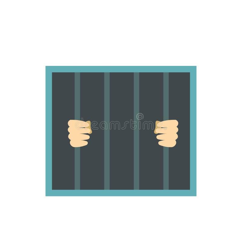 在监狱后的人禁止舱内甲板 库存例证