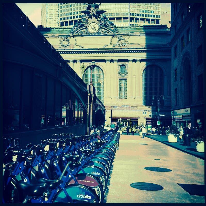在盛大中央驻地的自行车 免版税库存图片