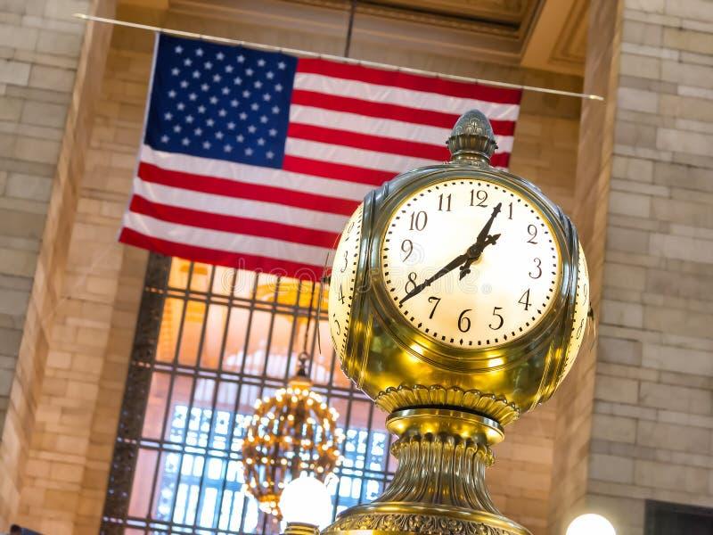 在盛大中央驻地,纽约的时钟 免版税库存照片