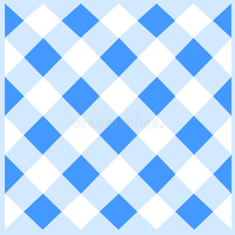 在直线交错的样式的对角白色和蓝色网格 无缝的倾斜的滤网网 创造性的Backgdrop 向量例证