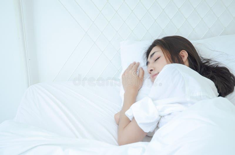在睡眠的健康概念 免版税库存照片
