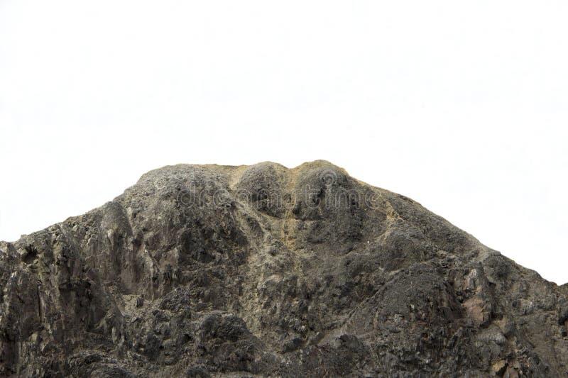 在石头与石化图象的恶魔般的岩石结冰的 免版税库存照片