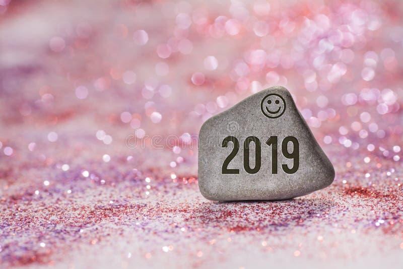 2019在石头刻记 图库摄影