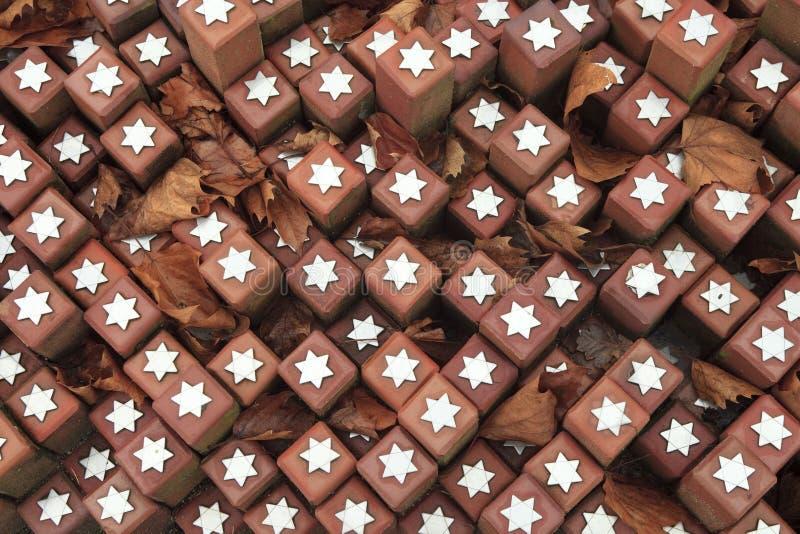 在石头的纪念品在Westerbork 免版税图库摄影