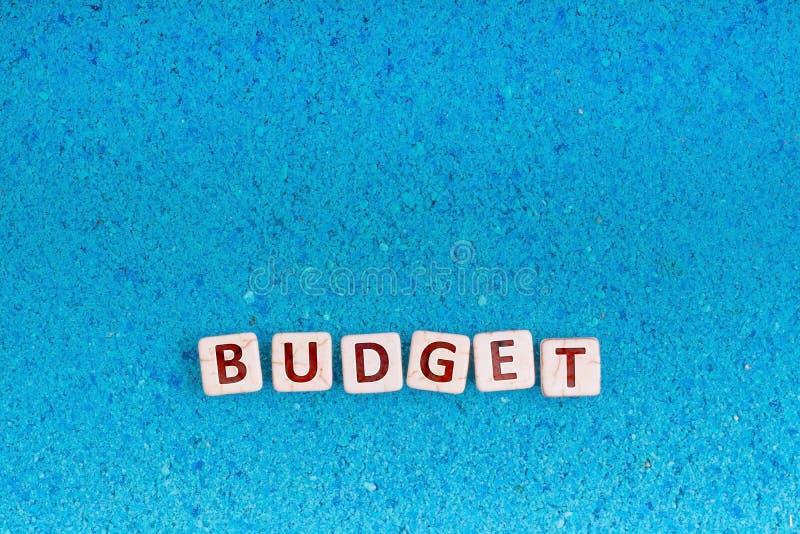 在石头的预算词 库存图片
