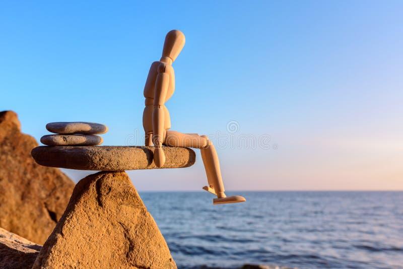 在石头的平衡 免版税库存照片