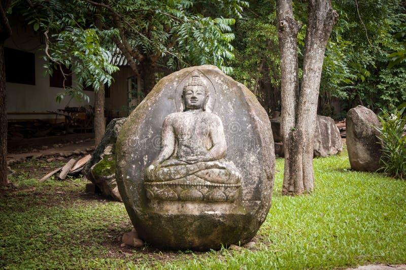 在石头的菩萨版本记录 库存照片