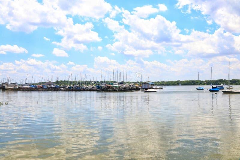 在码头的风景在得克萨斯 库存照片