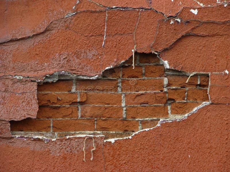 在砖墙之后 免版税库存照片